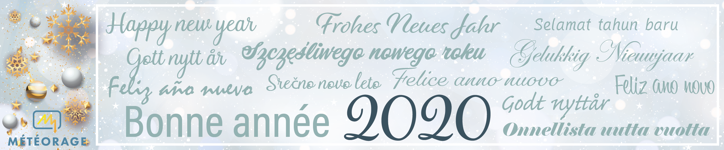 Meteorage wishes you a happy new year 2020